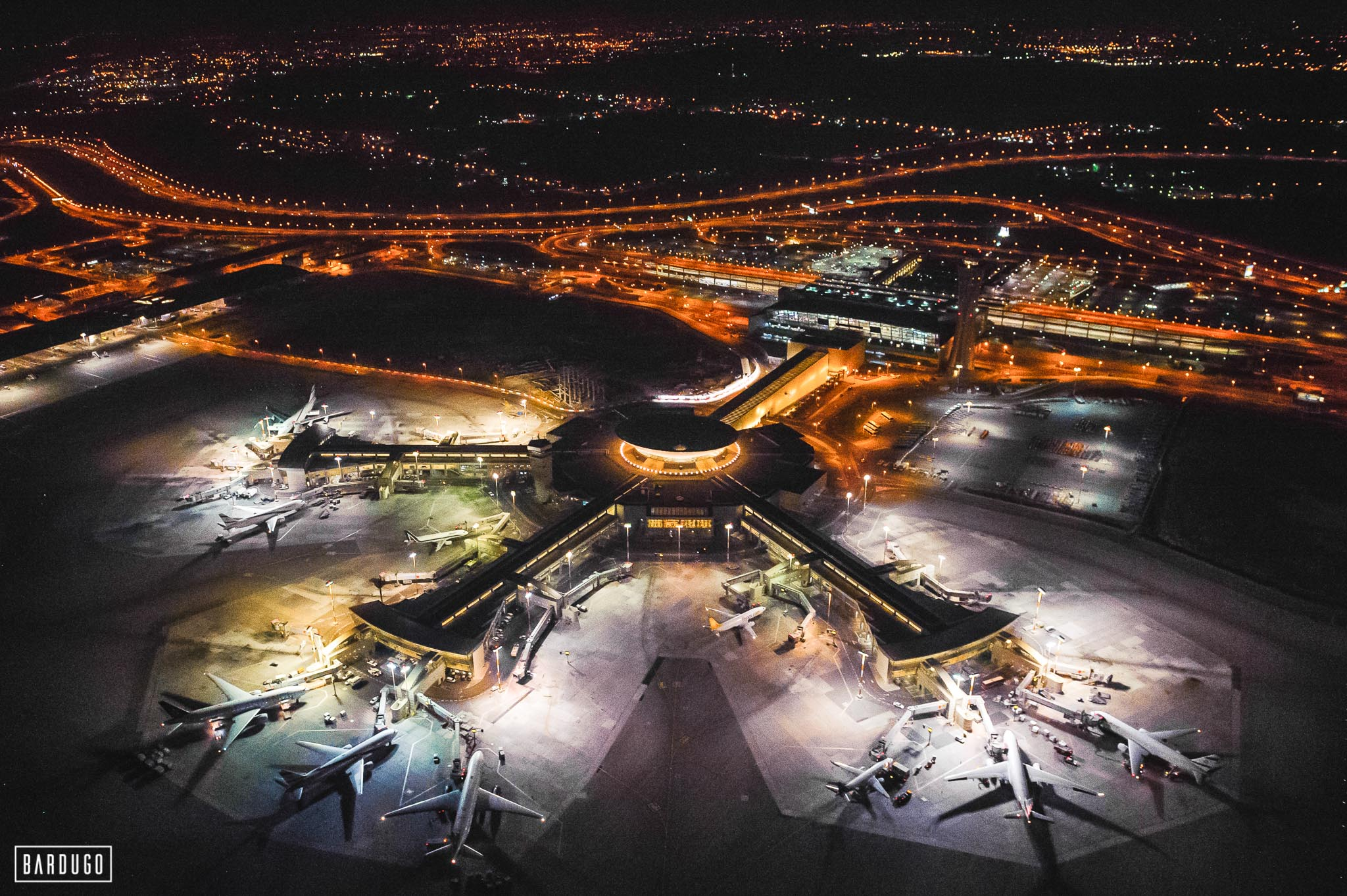 Airport at Nighttime